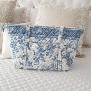 Vera Bradley Miller Bag in a light blue floral.